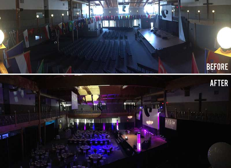 Gala Production Before after