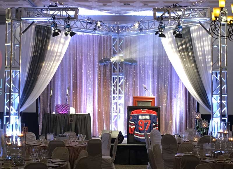 Kelowna pipe and drape rentals