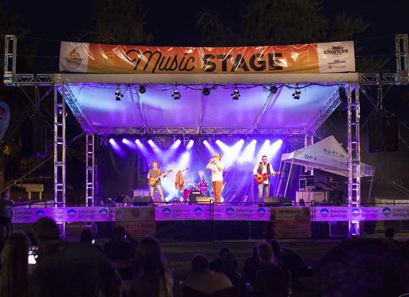 Rotary Ribfest Kelowna Stage Rentals